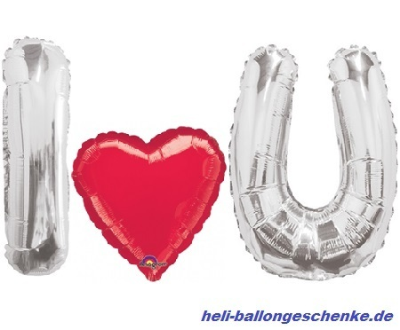 "Ballon-Bouquet ""I LOVE YOU"""
