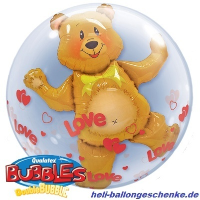 "Double Bubble ""Love Hearts & Bear"""