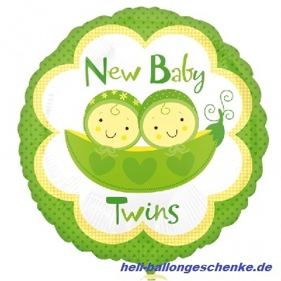 "Folienballon ""New Babies Twins"""