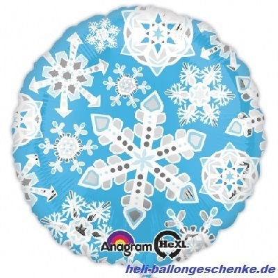 "Folienballon ""Blue & White Snowflakes"""