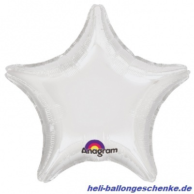 "Folienballon ""White Star"""