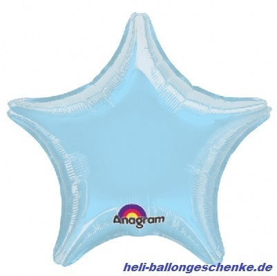 "Folienballon ""Pearl Pastel Blue Star"""