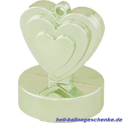 "Ballongewicht ""Single Heart, ivory"", 110g"