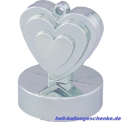 "Ballongewicht ""Single Heart, silver"""