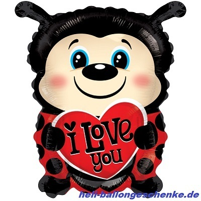 "Folienballon ""I love you"", Marienkäfer"