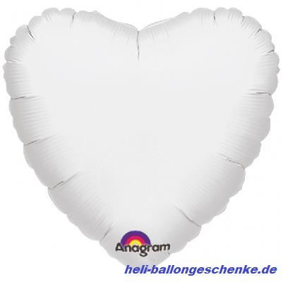 "Folienballon ""White Heart"""
