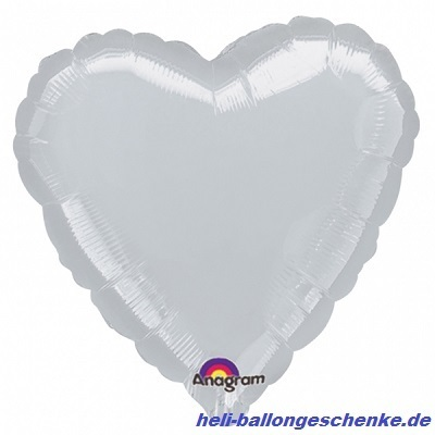 "Folienballon ""Silver Heart"""