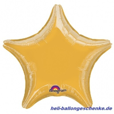 "Folienballon ""Gold Star"""