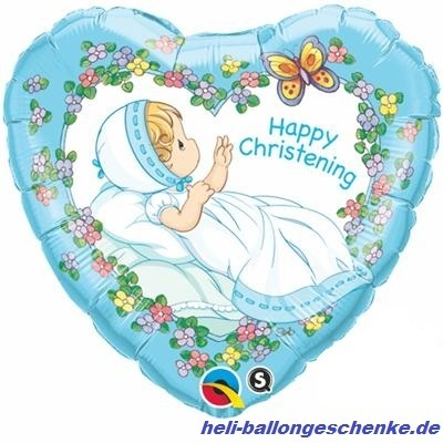 "Folienballon ""Christening"", Taufe-blue"