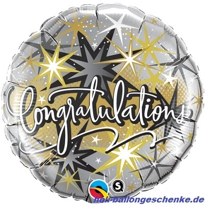 "Folienballon ""Congratulation""-Stars"