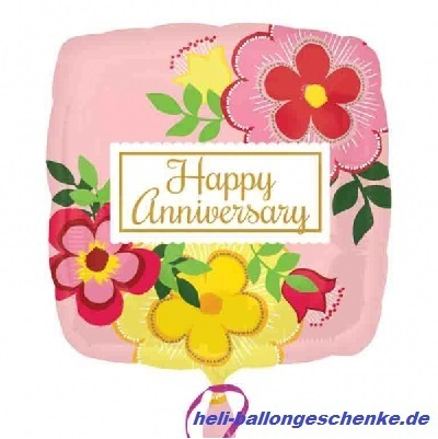 "Folienballon ""Happy Anniversary"""