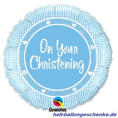 "Folienballon ""On Your Christening boy"""