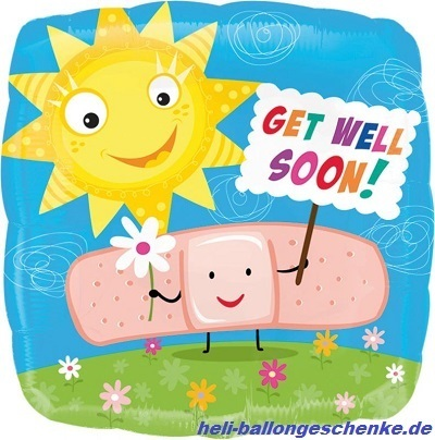 "Folienballon ""Get Well Soon"", Band-Aid"