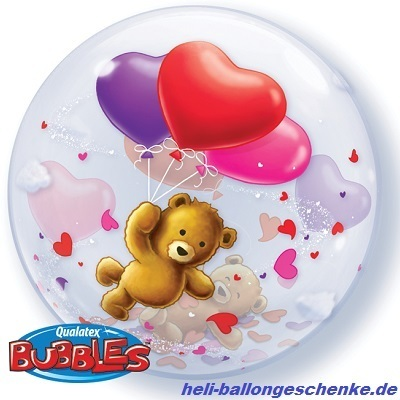 "Bubble ""Teddy Bear's Floating Hearts"""
