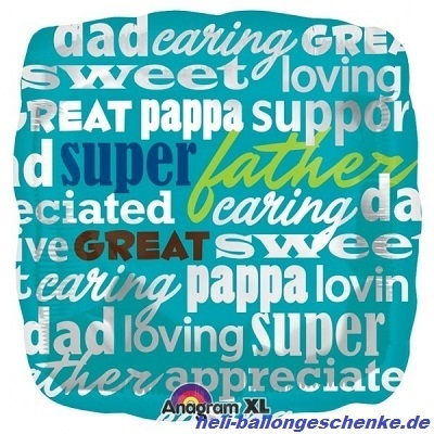 "Folienballon ""Super Great Dad Words"""