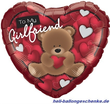"Folienballon ""To My Girlfriend Bear"""