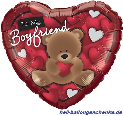 "Folienballon ""To My Boyfriend Bear"""