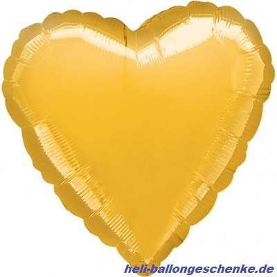 "Folienballon ""Gold Heart"""