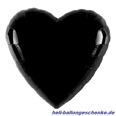 "Folienballon ""Black Heart"""
