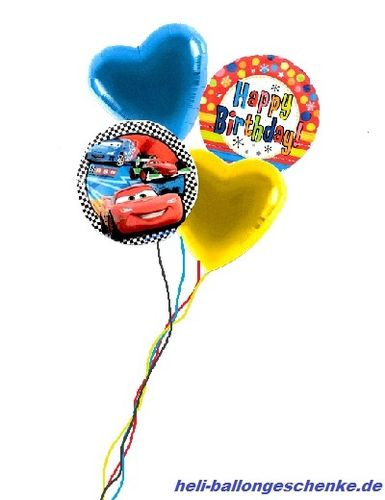 "Ballonbukett ""Happy Birthday, Cars"""
