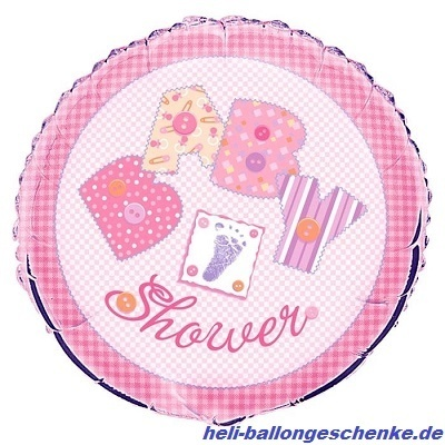 "Folienballon ""Baby Shower, Girl"""