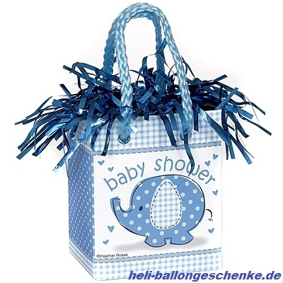 "Ballongewicht ""Baby Shower Boy, blau"""