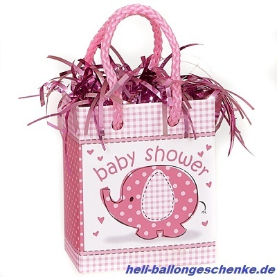 "Ballongewicht ""Baby Shower Girl, rosa"""