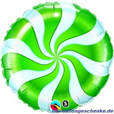 "Folienballon ""Candy Swirl Green"""