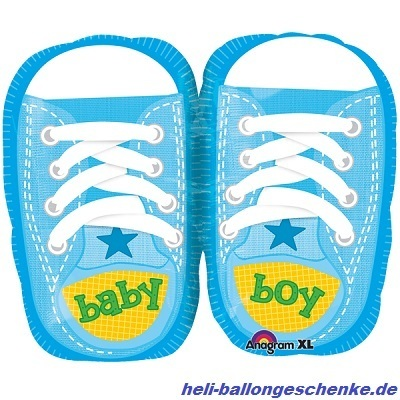 "Folienballon ""Baby Boy Sporty Blue"""