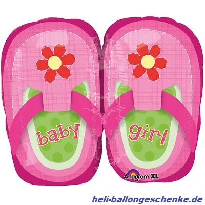 "Folienballon ""Baby Girl Pink Shoes"""