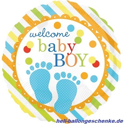 "Folienballon ""Baby Feet Boy"""