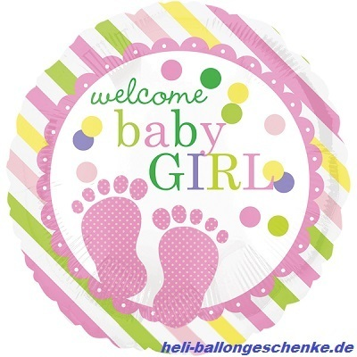 "Folienballon ""Baby Feet Girl"""