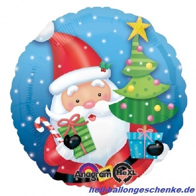 "Folienballon ""Santa Claus with Tree"""