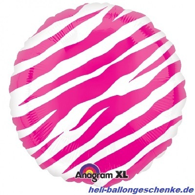 "Folienballon ""Zebra-Look, pink"""