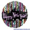 "Folienballon ""Happy New Year"", Glamour"